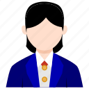 businesswoman, bussines, bussines icon, office, office icon, staff, woman icon