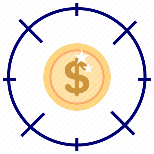 bussines, bussines icon, dollar, focus, office, office icon, target icon