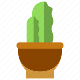 bussines, bussines icon, cactus, office, office icon, plant, pot icon