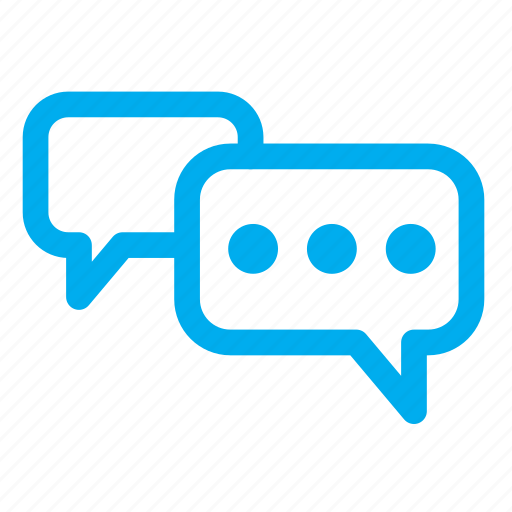 chat, chatting, dialog, ping, speech, word icon