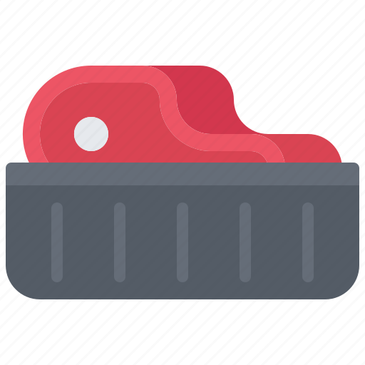 Butcher, food, meat, shop, steak, tray icon - Download on Iconfinder