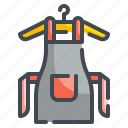 apron, chef, cloth, cooker, cooking, kitchen, protection icon