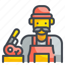 butcher, market, meat, occupation, people, professions, shop icon