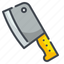 butcher, cleaver, cooking, kitchenware, knife, meat, tool icon