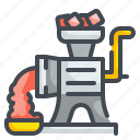 butcher, cooking, grinder, kitchenware, meat, mincer, pork icon