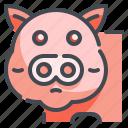 animal, food, fresh, meat, pig, pork, steak icon