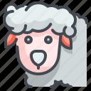 animal, farm, lamb, mammal, meat, sheep, wool icon