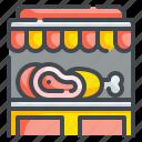 butcher, food, market, meat, pork, shop, shopping icon