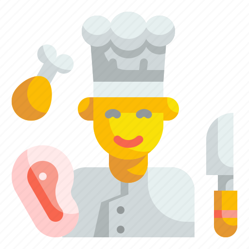 Chef, cook, cooker, cooking, kitchen, male, restaurant icon - Download on Iconfinder