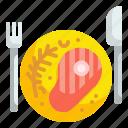 dish, food, grill, meat, proteins, roast, steak