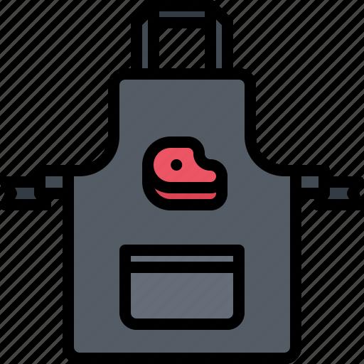 Apron, butcher, food, meat, shop, steak icon - Download on Iconfinder