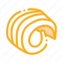 bread, butter, curl, cut, margarine, outlie, sliced icon
