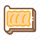 bread, butter, cut, margarine, outlie, sliced, toast