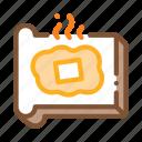 bread, butter, margarine, melting, outlie, sliced, toast
