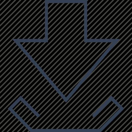 button, computer, download, internet icon