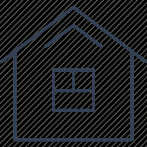building, button, house icon
