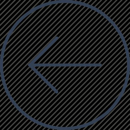 arrow, button, keyboard, left icon