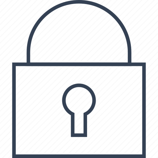 Lock, button, office icon
