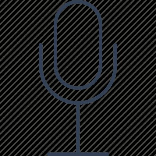button, microphone, web icon