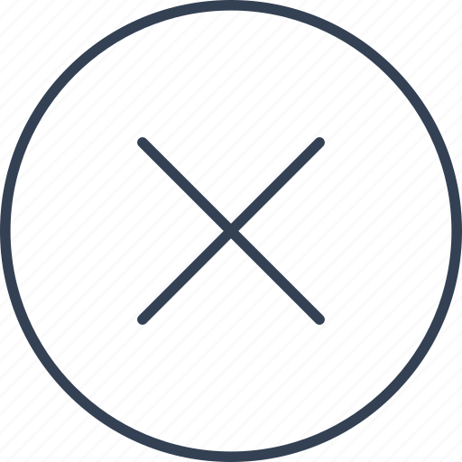 button, prohibition, warning icon