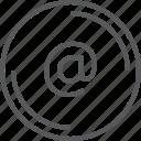 @, bouton, circle icon