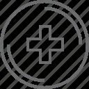 +, add, bouton, circle icon