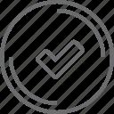 bouton, checked, circle icon
