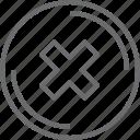 bouton, circle, delete icon