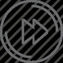 bouton, circle, next icon
