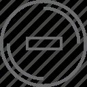 bouton, circle, remove icon