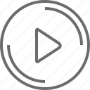 bouton, circle, right, triangle icon