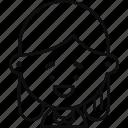 avatar, female, long hair, person, profile, user, woman