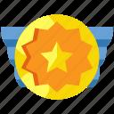 award, badge, medal, reward, ribbon, success, winner