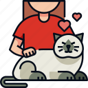 animal, cat, cute, free time, love, pets, playing with pets icon