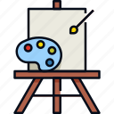 art, brush, color, drawing, hobby, paint, painting icon