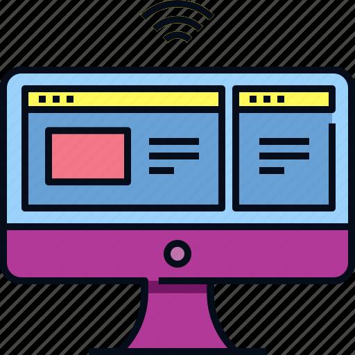 Computer, desktop, device, internet, pc, technology icon - Download on Iconfinder