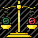 balance, business, cash, dollar, finance, money, scale