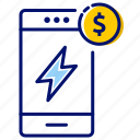 mobile recharge, money, online booking, pay bills, recharge, recharge walllet icon