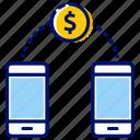 mobile banking, money transfer, send money, transaction, transfer money icon