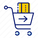 add money, ecommerce, online shopping, shopping, shopping cart, wallet icon