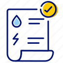 invoice, pay, pay bill, pay online, receipt, recharge, utility bill icon