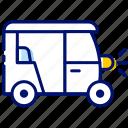 auto, auto rickshaw, online booking, transport, travel icon