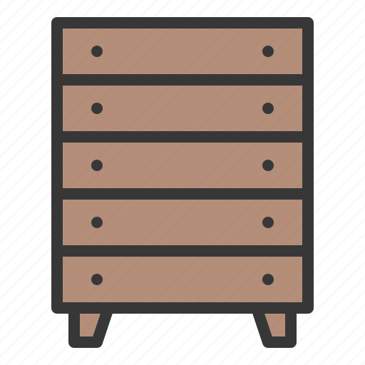 cabinet, closet, cupboard, drawer, furniture, household, interior icon