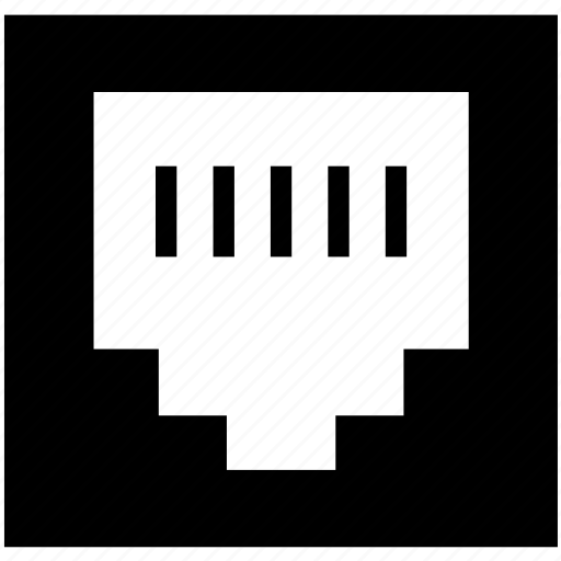 computer, internet, port, telephone icon