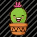 cactus, emoji, happy, laugh