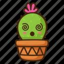 cactus, confuse, emoji