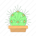 cactus, deserts, nature, plant, pot icon