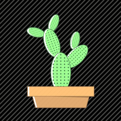 cactus, nature, pot icon