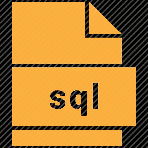 coding, extension, file, sql icon