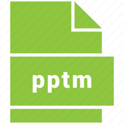 file format, pptm icon